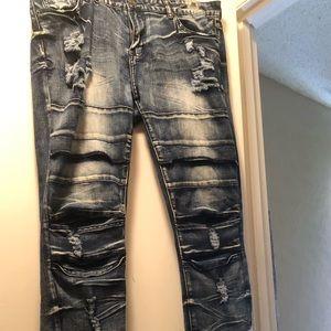 Rue 21 Dark Wash Ripped Skinny Jeans